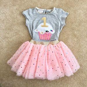 Mud Pie first birthday tutu outfit 12-18 months